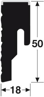 MeisterWerke Steckfußleiste 8 PK Rustic cremegrau 6480
