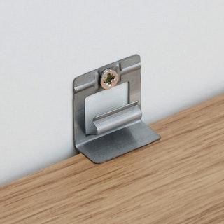 MeisterWerke Befestigungsklipps für Sockelleisten (Metall)