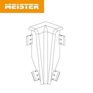 MeisterWerke Zubehör Innenecke 3PK Edelstahl-Optik 2002