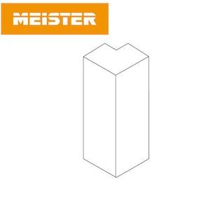 MeisterWerke Zubehör Außenecke 9PK/19PK Weiß (selbstklebend)