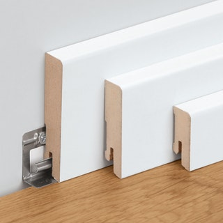 Meister Steckfußleisten Weiß (streichfähig) 2222 DF Profil 14 MK/15MK/16MK_NEUE Länge