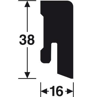 Meister Steckfußleisten Uni-weiß glänzend 324 DF Profil 14 MK/15MK/16MK