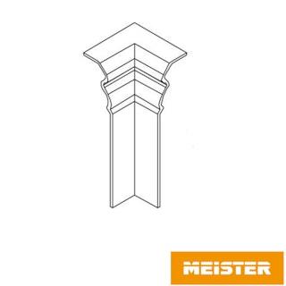 MeisterWerke Zubehör-Steckfußleiste Innenecke Hamburgerprofil-weiß 2001