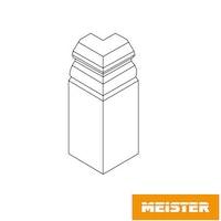 MeisterWerke Zubehör-Steckfußleiste Außenecke Hamburgerprofil-weiß 2001