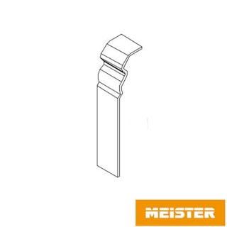 MeisterWerke Zubehör-Steckfußleiste Verbindungsstück Hamburgerprofil-weiß 2001