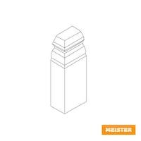 MeisterWerke Zubehör-Steckfußleiste Endkappen Hamburgerprofil-weiß 2001