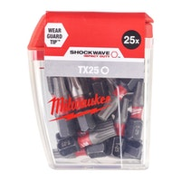 Milwaukee BIT TX25 25MM SHOCKWAVE  (25)DISP. 4932430880