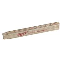 Milwaukee Gliedermaßstab Holz Slim 2m natur 4932459303