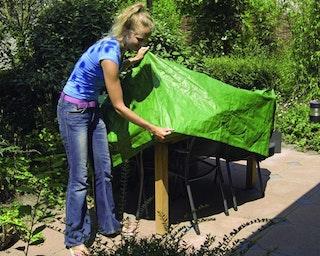 Nature Schutzhülle Rimini für Gartenmöbel runde Gartentische 100g/m² Größe 90 x Ø 325 cm