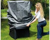 Nature Schutzhülle Palermo Lounge für Gartenmöbel Stühle 240g/m² Größe: 695 x 68 x 28 cm Farbe: grau