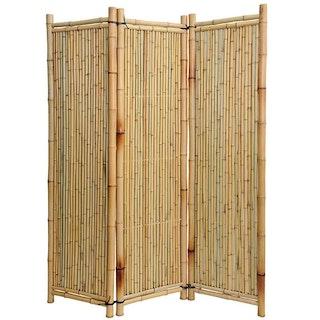 Noor Bambus Paravent Deluxe 180 x 180 cm 3-teilig