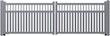 Norport Autoport automatische Drehtoranlage Linie 3 Design Doppelstrebe