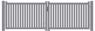 Norport Manuport manuelle Drehtoranlage Linie 1 Design Strebendesign