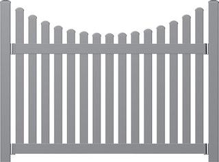 Norport Zaun Linie 5 Design Schwung unten