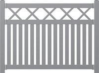 Norport Zaun Linie 2 Design Kreuzdesign