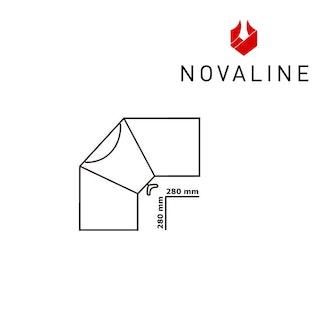 NOVALINE Rauchrohr-Bogen 45°-Senotherm Schwarz