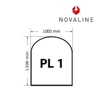 NOVALINE Funkeschutzplatte aus Spezialglas Format PL1 Halbrund