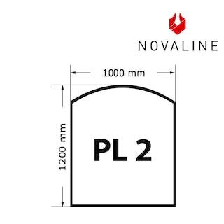 NOVALINE Funkeschutzplatte aus Spezialglas Format PL2 Rechteck mit Bogen