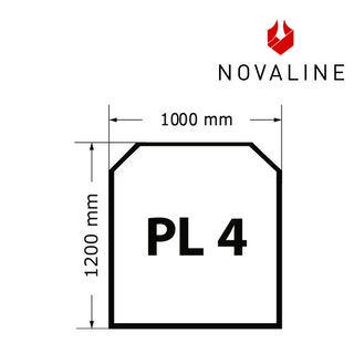 NOVALINE Funkeschutzplatte aus Spezialglas Format PL4 Rechteck mit Schrägen