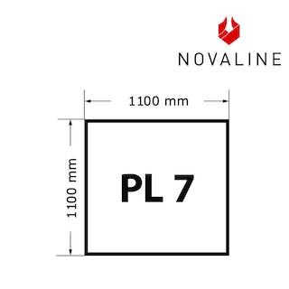 NOVALINE Funkeschutzplatte aus Spezialglas Format PL7 Quadrat