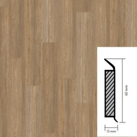 objectflor Steckfußleiste Natural Brushed Oak