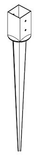 OSMO Pfostenanker zum Einschlagen