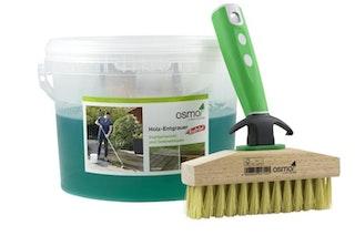 OSMO Terrasse - Holz Entgrauer Kraft Gel + Ter.- Reinigungsbürste