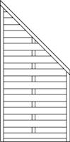 OSMO Sichtblende Lillehammer - geschlossen 89x178/89 cm