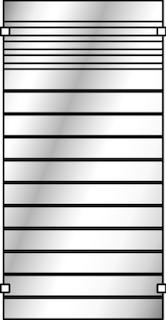 OSMO Glasscheibe Gitter satiniert 89x178cm