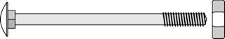 OSMO Schlossschraube für Pfosten 90x90 mm