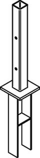 Osmo Pfostenanker zur Tor-Montage