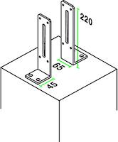 OSMO Pfostenanker zum Aufdübeln