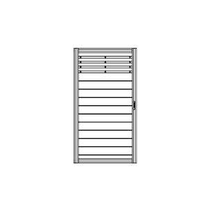 OSMO Sichtblende Bella Vista A+B - Tor 98x179 cm