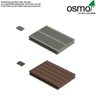 OSMO MULTI-DECK BPC-Terrassendiele Vollprofil HELLGRAU-genutet oder geriffelt