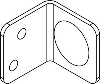 OSMO Elementhalter für Metallpfosten