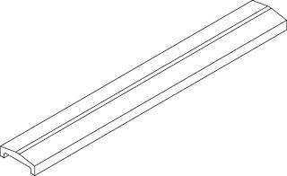 OSMO Forsdal - Abschlussprofil für 28 mm Bohlen mit Absorberelement
