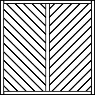 OSMO Sichtblende Skagen - geschlossen 178x178 cm