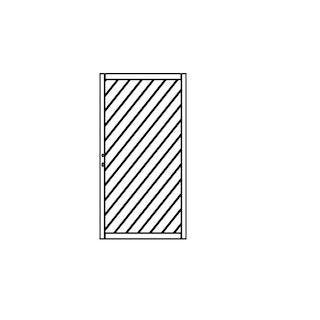 OSMO Sichtblende Skagen - Tor 98x178 cm