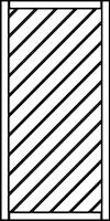 OSMO Sichtblende Skagen - geschlossen 89x178 cm