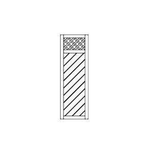 OSMO Sichtblende Skagen - mit Rankgitter 59x178 cm