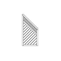 OSMO Sichtblende Skagen - Abschluss mit Rankgitter 89x178/98 cm