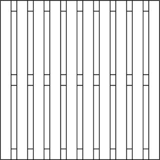 OSMO Sichtblende Sumatra - geschlossen 178x178 cm