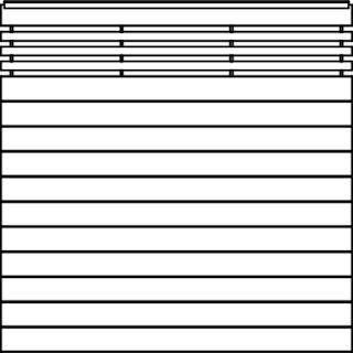 OSMO Sichtblende Bella Vista A - mit Gitter und Handlauf 179x179 cm