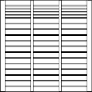 OSMO Sichtblende Rondo - mit Gitter 178x178 cm