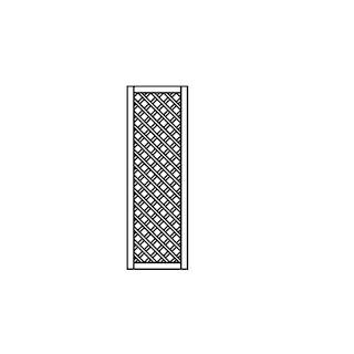 OSMO Sichtblende Skagen - Rankgitter 59x178 cm