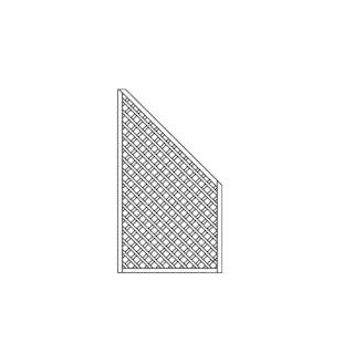 OSMO Sichtblende Skagen - Rankgitter 99x178/85 cm