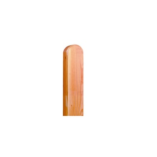 OSMO Pfosten - Lärche glatt mit Kopfrundung