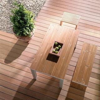 OSMO Terrassendiele Bangkirai genutet/geriffelt Premium, KD- 25x145mm