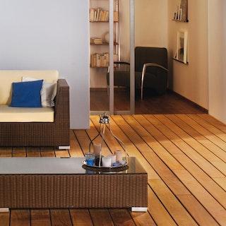 OSMO Terrassendiele Garapa glatt / glatt Natursortierung