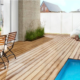 OSMO Terrassendiele Thermoholz Kiefer-geriffelt/glatt für Seno-Fix Befestigung